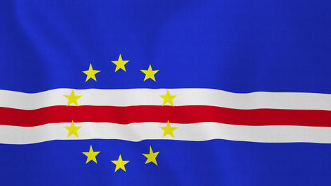 Loopable: Flag of Cape Verde Footage