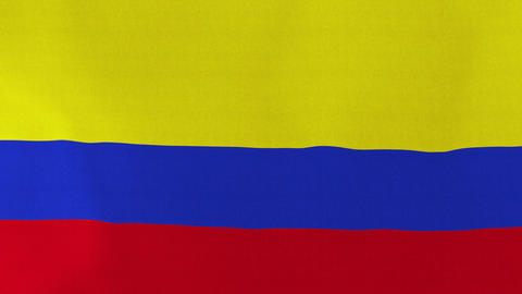 4K Loopable: Flag of Colombia Footage