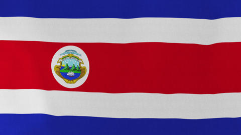4K Loopable: Flag of Costa Rica Live Action