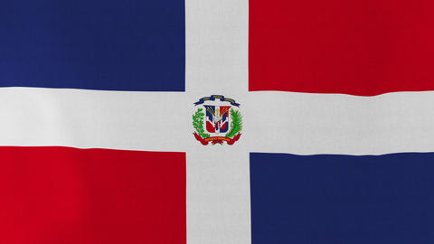 4K Loopable: Flag of Dominican Republic Footage