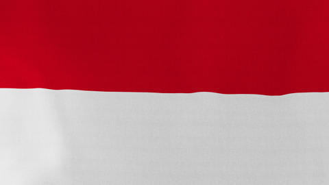 4K Loopable: Flag of Indonesia Footage