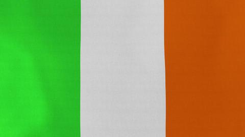 4K Loopable: Flag of Ireland Footage