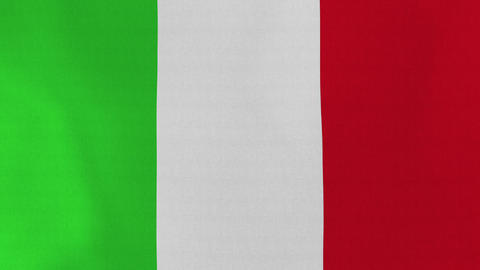 4K Loopable: Flag of Italy Footage