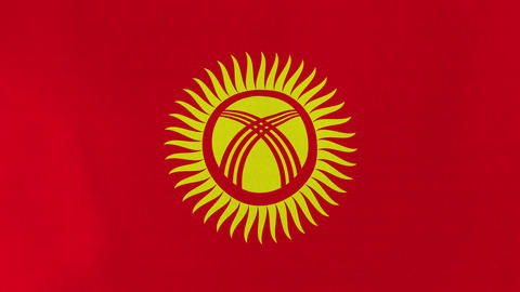 4K Loopable: Flag of Kyrgyzstan Footage