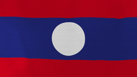 Loopable: Flag of Laos Footage