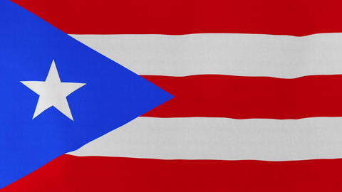 4K Loopable: Flag of Puerto Rico Footage