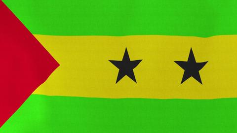 4K Loopable: Flag of Sao Tome and Principe Footage