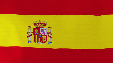 Loopable: Flag of Spain Footage