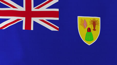 Loopable: Flag of Turks and Caicos Islands Footage