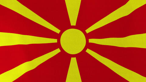 4K Loopable: Flag of Macedonia Footage