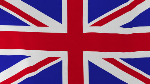[loopable] Flag Of United Kingdom stock footage
