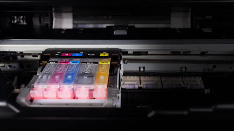 Flickering ink cartridges Footage