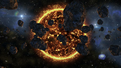 space galaxy asteroids supernova exploding 11607 Animation