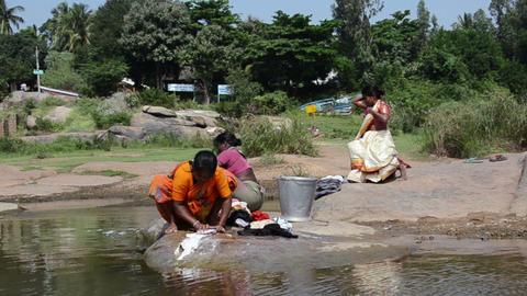 India Washing stock footage
