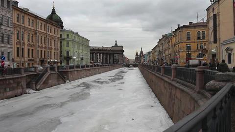 St. Petersburg In Winter stock footage