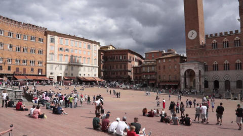 Piazza del Campo in Siena Italy (1 of 16) Footage