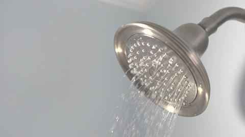 Slow Motion Water Sprays from Shower Head (4 of 4) Footage
