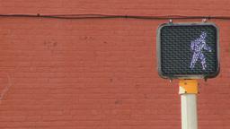 crosswalk red brick wall behin Footage