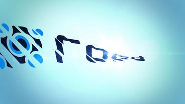 Bar Sliced Logo Reveal stock footage