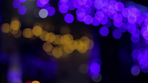 4K Bokeh Lights / Yellow-Purple Bokeh / Bokeh Background Footage