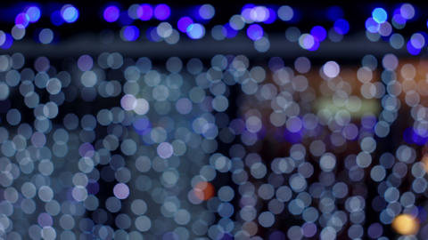 4K Bokeh Lights / Blue Bokeh / Bokeh Background Footage
