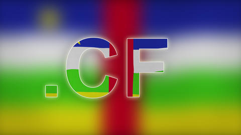CF - Internet Domain Of Central African Republic stock footage