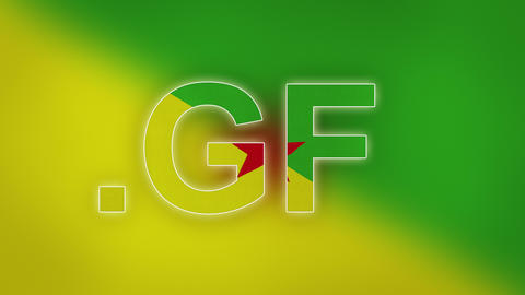 GF - Internet Domain Of French Guiana stock footage