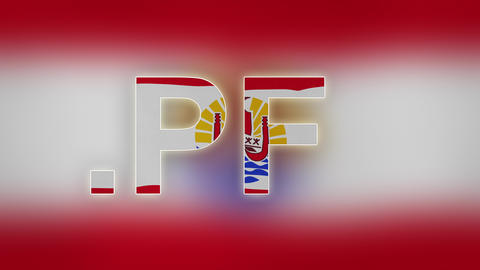 PF - Internet Domain Of French Polynesia stock footage