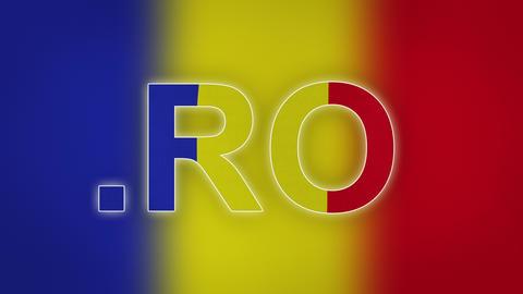 RO - Internet Domain Of Romania stock footage