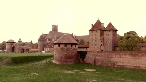 Timelapse of Teutonic Order Castle In Malbork Footage