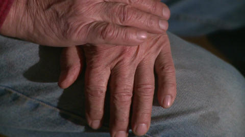 Hands Man His 60s 1 4 stock footage