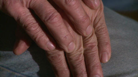 Hands Man His 60s 4 4 stock footage