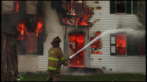 housefire and firefighters 1 6 Footage