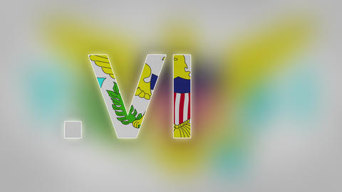 VI - Internet Domain Of US Virgin Islands stock footage