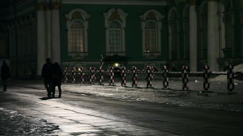Dark Night Walk In The City stock footage