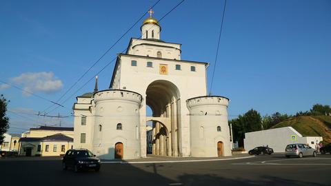 Golden Gates in Vladimir, Golden ring of Russia, timelapse Footage