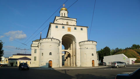 Golden Gates in Vladimir, Golden ring of Russia Footage
