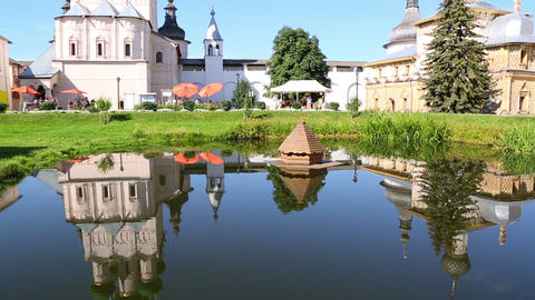Reflection of Rostov Kremlin Footage