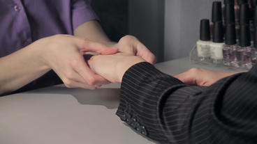 Hand Massage stock footage