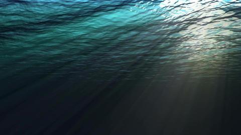 Looping Underwater View Ocean stock footage