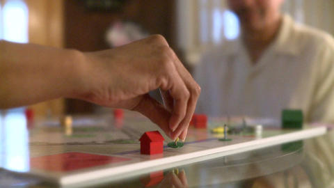 Playing Board Game 1 5 stock footage