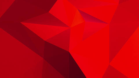 Red Abstract 3d background with polygonal pattern Animation