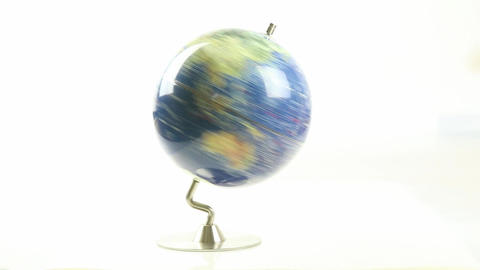 World globe spinning 2 Live Action