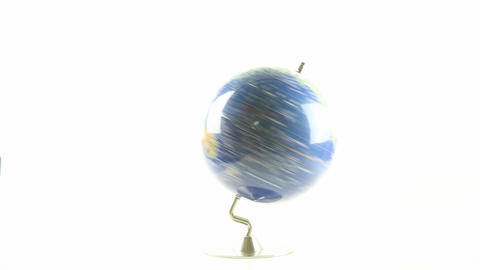 World globe spinning 5 Live Action