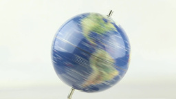 World Globe Spinning Close Up 1 stock footage
