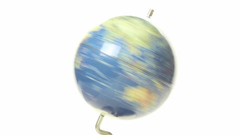 World globe spinning Close up 4