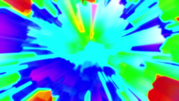 Aggressive Colorful RGB Burst Glowing Abstract Background Loop 2 Animation