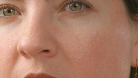 senses white female 30s 2 3 Footage