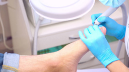 Pedicure stock footage