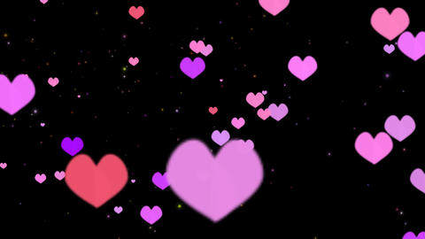 Hearts Pink Colors stock footage